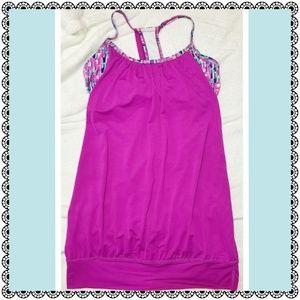 {Xersion} pink activewear tank over bra top, sz XS